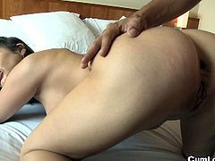 Sweet brunette babe with lovely big tits and big ass loves it hard and deep.Her asshole wants to be fucked, nailed until being creampied, inundated of sperm. She loves anal sex and although she says that her anus is really tight, she also says that it gets relaxed and dilated easily so she is ready to get banged.