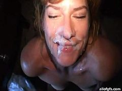 Insatiable light haired wifey adores to suck hard ever hungry cock of her man. Cause after that passionate oral sex she can drink galore of cum juice.Take a look at that kinky lassie in All Of Gfs porn video!