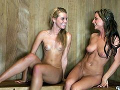 Jessie Rogers and Melissa XoXo have passionate lesbian sex