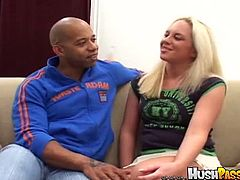 My Daughters Fucking A Black Dude brings you a hell of a free interracial video where you can see how the nasty blonde Simone Schiffer sucks a big black rod of meat.