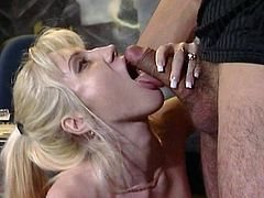 Tara Moon is a cock starved whore and she can't wait to get her urges fulfilled. She slurps on her lover's cock and lets him fuck her as hard as he desires.