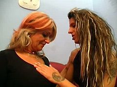 Two Grannies Take Turns With Young Girl 1
