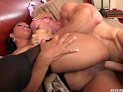 Check out this hardcore scene where the slutty Asian babe Maxine X ends up with a messy facial after being fucked by a large cock while wearing stockings.