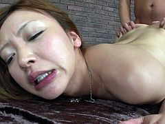 Mio Kuraki is a skilled sucking had who knows for sure how to please balls and dick properly. She sucks pole and licks balls standing on her knees. This extremely hot Jav HD sex tube scene deserves your attention.