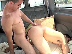 We get an up close and personal view of these two guys fucking in the back of a van as they drive around a neighborhood.