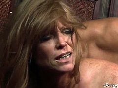 Rocco Reed stretches lovely Darla Cranes mouth with his meaty ram rod to the point of no return