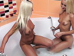 Blonde Victoria Puppy and Jessie Jazz have a lot of lesbian sexual energy to spend
