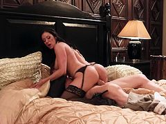 Wicked Pictures brings you a hell of a free porn video where you can see how the vicious brunette Kendra Lust sucks cock and gets fucked very hard into heaven.