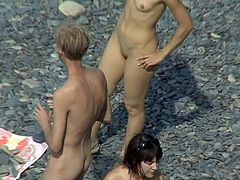 With a hidden cam placed at the beach, voyeur feeds his lust while watching on nude babes