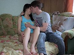 Inna gets a mouthful after getting fucked and fingered
