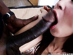 Asian Marica Hase with bubbly butt knows how to take interracial sex to the whole new level