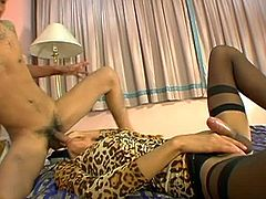 Wild asian shemale Amy loves sucking and get fucked on her tight ass. This time she is doing it with a bisexual asian guy. This shemale loves various partners.