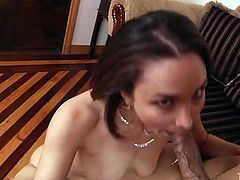 Horny and attractive curvy brunette with awesome ass gives an awesome blowjob to her buddy. Have a look at this chick in My XXX Pass sex video.
