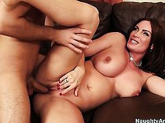 Diamond Foxxx with bubbly butt and smooth bush is fuckable and hot dude Logan Pierce knows it
