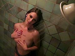 Amazing scene does Shae Snow shows during naughty and passionate shower in which she gets naughty
