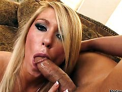 Rocco Reed gives charming Brynn Tylers mouth a try in oral action