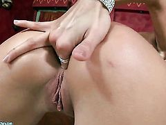 Blonde has some time to stroke her slit