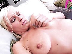 Lexi Swallow strips on cam in solo action