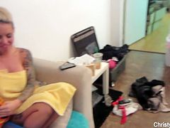 Christy Mack behind the scene footage
