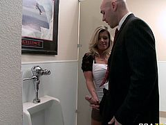 That voracious light haired sex pot with sexy round boobies seduced her kinky boss and let him pound her dirty mouth hard. Have a look at that hot bitch in Brazzers Network sex clip!