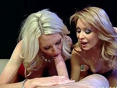 Light haired Emma Starr and Monique Alexander getsdrilled by Jordan Ash