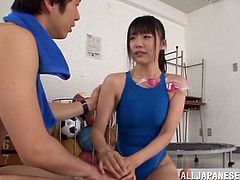 A sexy, young Asian girl with small tits and a hot ass enjoys a hardcore fuck session. Hear her scream with pleasure right now!