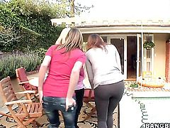Victoria Lawson with round booty does dirty things with Jessica Lynn in lesbian action