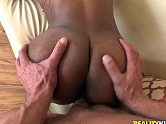 Her black bubbled ass is beyond all praise. Just enjoy watching ebony booty doggy style. Her slim wait and roasted palatable buns will drive your cock crazy.