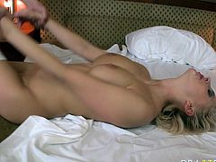That brutal stud attacked sweet pussy of that light haired bosomy hooker in cowgirl, sideways and mish positions. Finally he thanked her by galore of cum juice.Just enjoy that hot sex in Brazzers Network porn video!