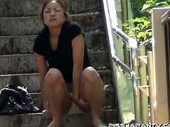 Asian cuties pissing compilation