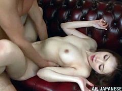 Stunning Asumi Ogawa gets her shaved pussy licked and fucked