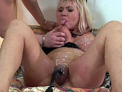 Busty with great need to have sex, Venus, is one greedy mom who is eager after young male's dick