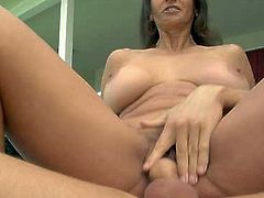 Horny and sexy dark haired whore with awesome body and nice ass gets her dripping pussy fucked doggystyle. Have a look at thus babe in All Porn Sites Pass xxx clip.