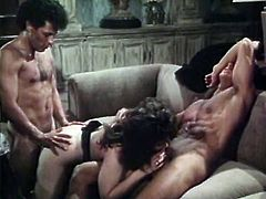 Awesome doggystyle fuck with red haed and group sex with brunette