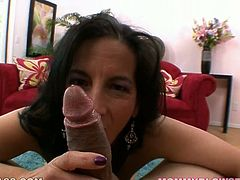 Nasty mature slut Melissa Monet loves big cocks. In this POV video she gives greta handjob and blowjob to her cocky boyfriend.