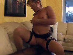 Slutty and sexy busty blond haired bitch in stockings gives a head. Have a look at this chick in All Porn Sites Pass xxx video.