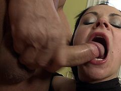 Step dad is close to smakcing busty babe's warm fanny in one nasty hardcore porn session