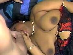 Voracious and slutty dark haired black bitch gets a titfuck and gets her mouth fucked hard. Have a look at this whore in the Classic porn sex clip.