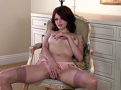 Bree Daniels is a bout to make you day with this amazing solo scene where this gorgeous redhead takes off her sexy lingerie and fingers her pussy as you're amazed by her body.