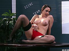 Hot ass Chanel Preston gives Danny D an amazing blowjob in the office and gets her sweet pussy rammed on top of the desk.