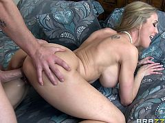 Captivating blonde milf Brandi Love is having fun with Jessy Jones in amazing reality sex clip. She gives a terrific blowjob to Jessy and they fuck in ther reverse cowgirl position and doggy style.