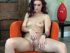 Make sure you have a look at this amazing solo scene where the smoking hot redhead Karlie Montana takes off her clothes and masturbates with a dildo while wearing high heels.
