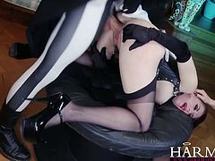 Samantha and Yuffie Yulan are starring in this hardcore movie called Dark Edge. Watch as they start to deepthroat this cock and switching turns to ride it.