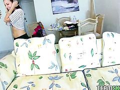 Krystal Banks with big ass and hairless cunt shows sex tricks with passion and desire