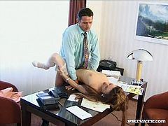 Her main responsibilities at this job is to fuck her boss whenever he feel horny. So she performs great job at this. Check it out for yourself.