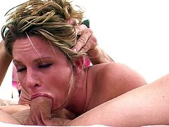 Gagging and chocking while sucking cock like a true slut makes Amanda Blow to feel so amazingly hot