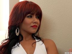 Make sure you watch this hardcore scene where the gorgeous redhead Eva Angelina is fucked up her tight asshole before she's facialized.