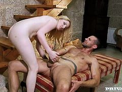 She is such a sexy and sweet siren that wants a big cock in her beaver. HOney gives a damn nice head and then this man is penetrating her!