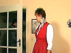 Make sure you don't miss this amazing scene coming straight from a vintage German movie. This chick starts to rub her hairy pussy in the mirror to make herself cum.