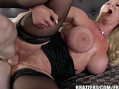 Brazzers Network brings you a hell of a free porn video where you can see how the naughty and busty blonde milf Alura Jenson gets banged hard into heaven.
